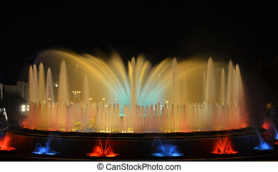The Magic Fountain of Barcelona at night