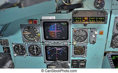 Cockpit in flight - Primary flight instruments in flight