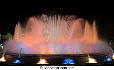 Magic Fountain of Barcelona - View of The Magic Fountain of...