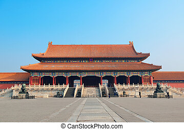 Forbidden City - Pagoda architecture in Forbidden City in...