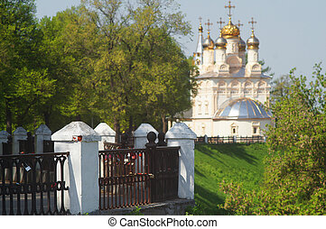 church in Ryazan - Landscape with the image of chirch in...