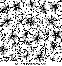 Beautiful seamless background in black-and-white style....