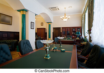Modern and luxury office with antiquarian subjects