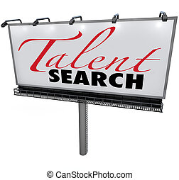 Talent Search Billboard Help Wanted Find Skilled Workers -...