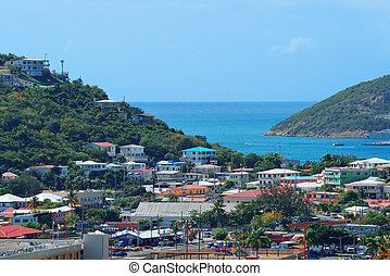 St Thomas harbor - Virgin Islands St Thomas harbor view with...