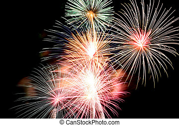 Fireworks or firecracker Variety of Colorful. - Variety of...