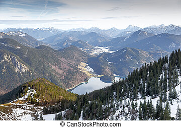 """View from Herzogstand - View from the mountain """"Herzogstand""""..."""