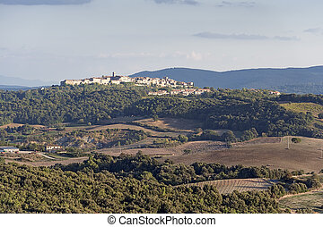 Tuscany Landscape - Image of a landscape in Tuscany at...