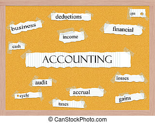 Accounting Corkboard Word Concept with great terms such as...