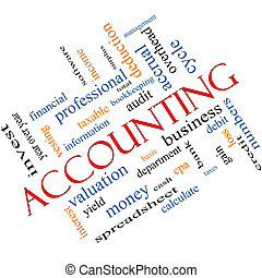 Accounting Word Cloud Concept Angled with great terms such...