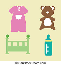 baby design over cream background vector illustration