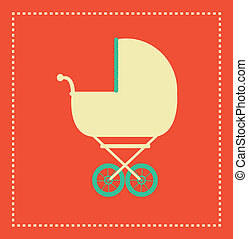 baby design over orange  background vector illustration