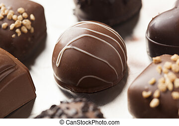 Gourmet Fancy Dark Chocolate Truffle Candy for Dessert