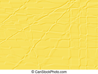 Wrinkled yellow paper. - The Picture Wrinkled yellow paper.