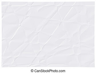 Wrinkled white paper. - The Picture Wrinkled white paper.