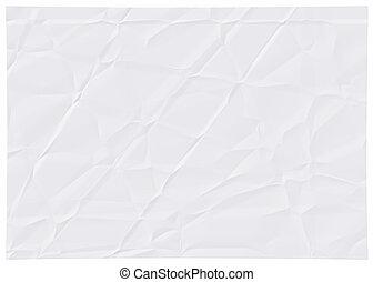 Wrinkled white paper.