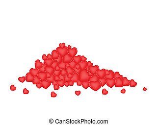Stack of Chocolate Candies in Heart Shape - Love Concept,...