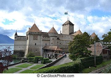 Chillon Castle near Montreux, Switzerland.