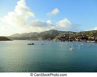 St. Thomas views - Coastal views of the island of St. Thomas...