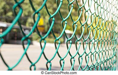 alambre, cerca, futsal, campo, Plano de fondo