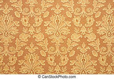 Retro Wallpaper - Floral vintage wallpaper background. Old...