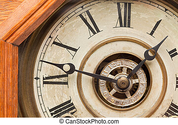 Worn Vintage Antique Clock Face