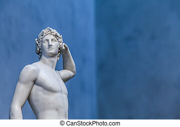 Apollo's idealized body and balanced pose