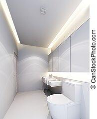 bathroom  interior ,3d render