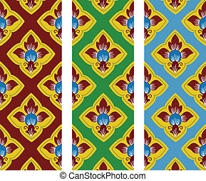 thai traditional style art pattern in vector
