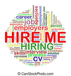 Word tags circular wordcloud of hire me - Illustration of...
