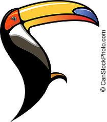 Cute colourful cartoon toucan