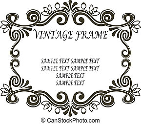 Vintage frame with scrolls and flourishes - Ornate...