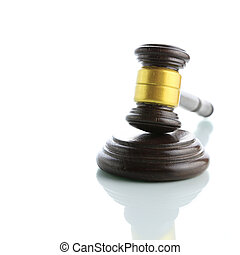 Judge gavel isolated on white background