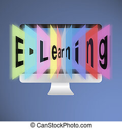 E-Learning - Computer monitor, The concept E-learning