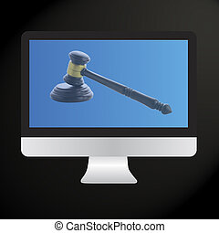 Judge gavel, Internet Auction