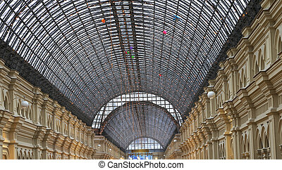 Interior of the Main Universal Store GUM on the Red Square...