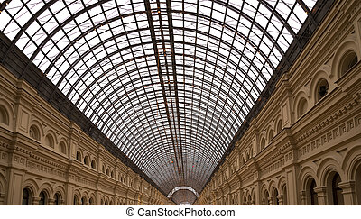 Interior of the Main Universal Store (GUM) on the Red Square...