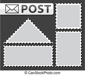 Set of a post stamp