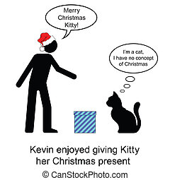 Christmas Present - Kevin gave Kitty her Christmas present...