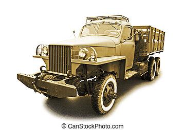 retro military car