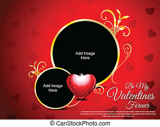 Abstract Love Card Vector