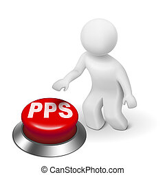 3d man with pps pay per sale button