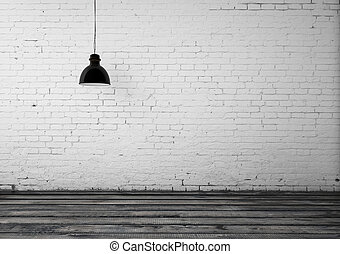 room with ceiling lamp