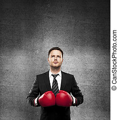 man in boxing gloves