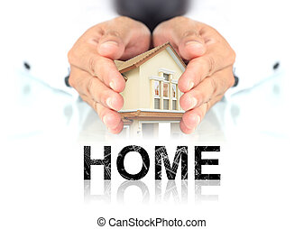 House in hand, the concept about real estate