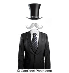 businessman with mustache and hat