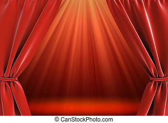 curtain and bright stage