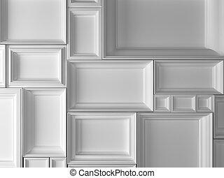 3d white frames - high definition 3d white frames