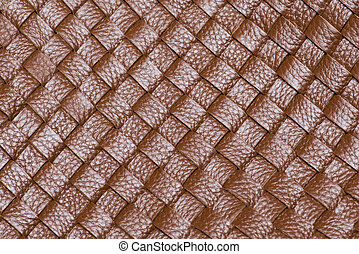 Macro of brown leather