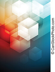 Red and blue technology art design - Vector tech abstract...